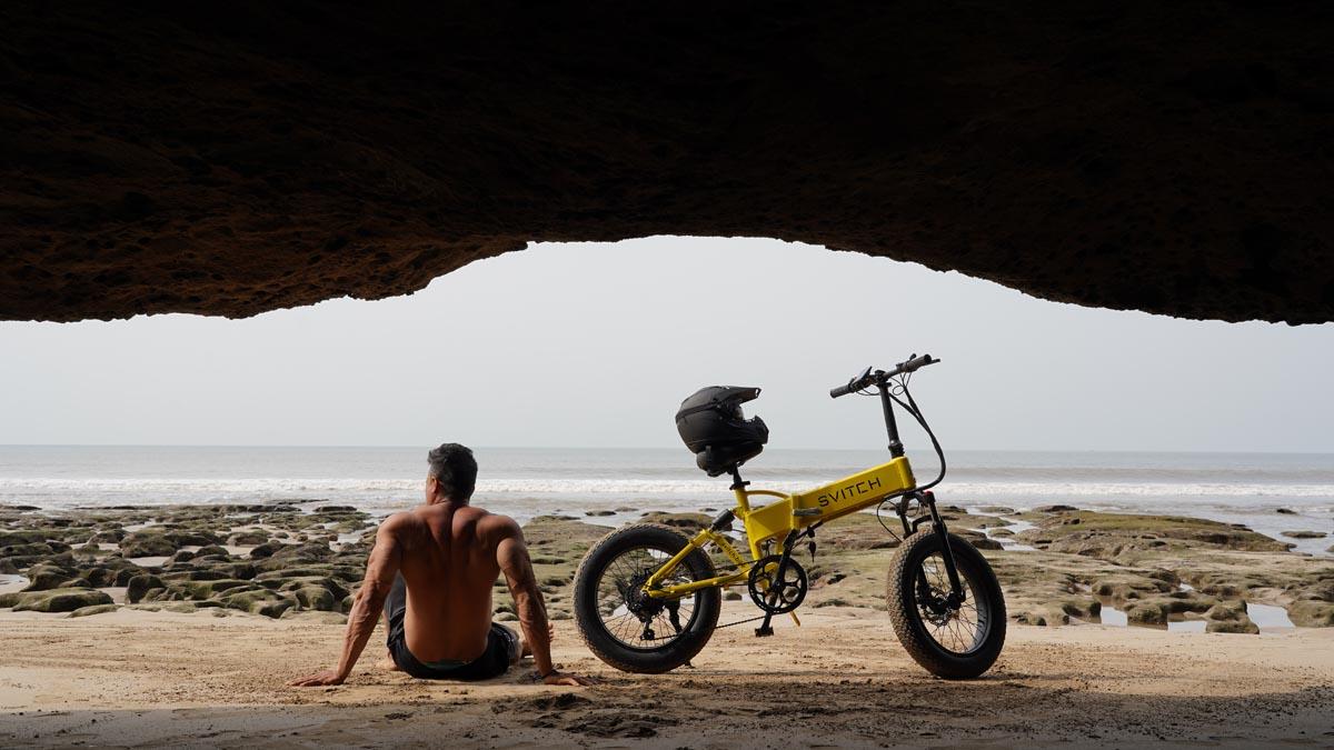 svitch bike being used