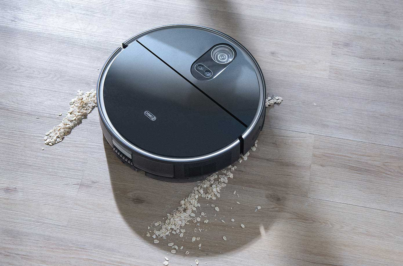 360 Robot Vacuum Cleaner Being Used