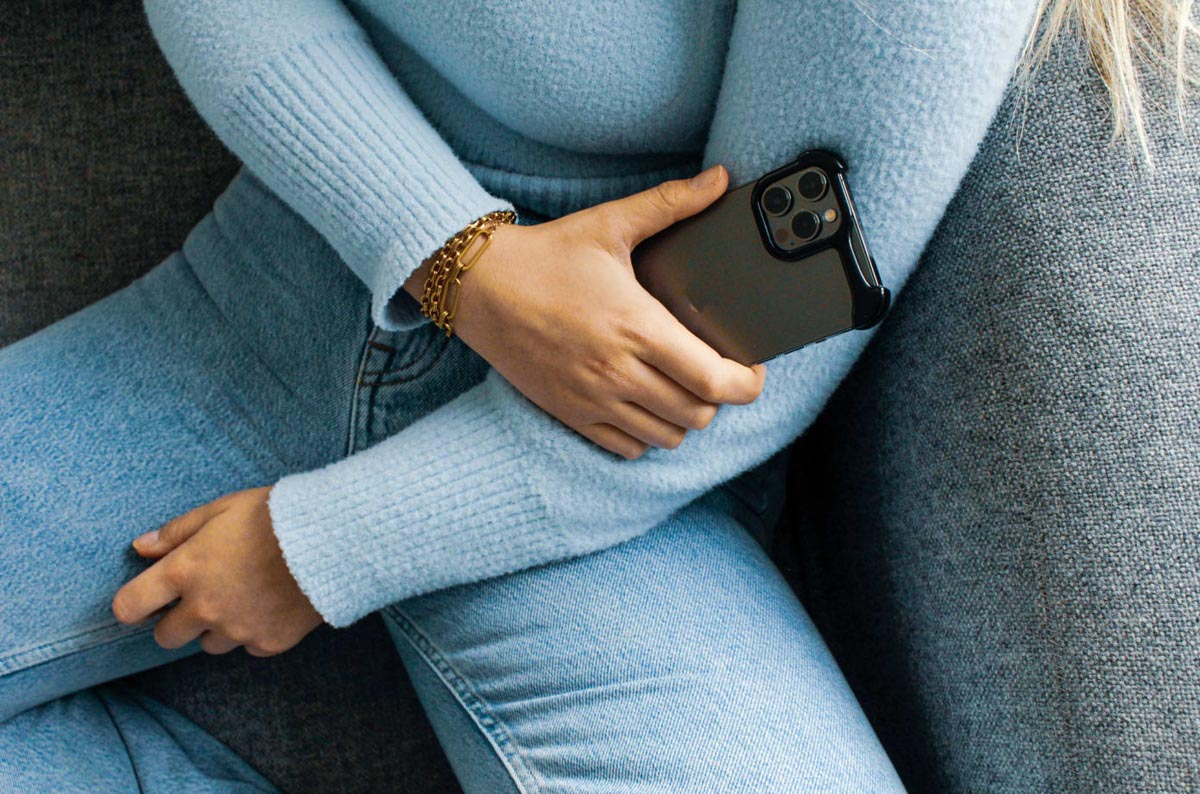 Arc Pulse- The case your iPhone 12 deserves. In hand