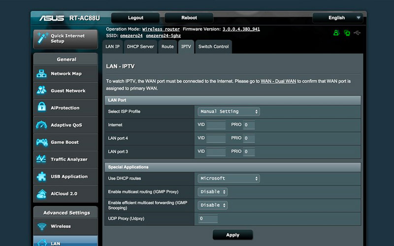 Asus Router Web Interface