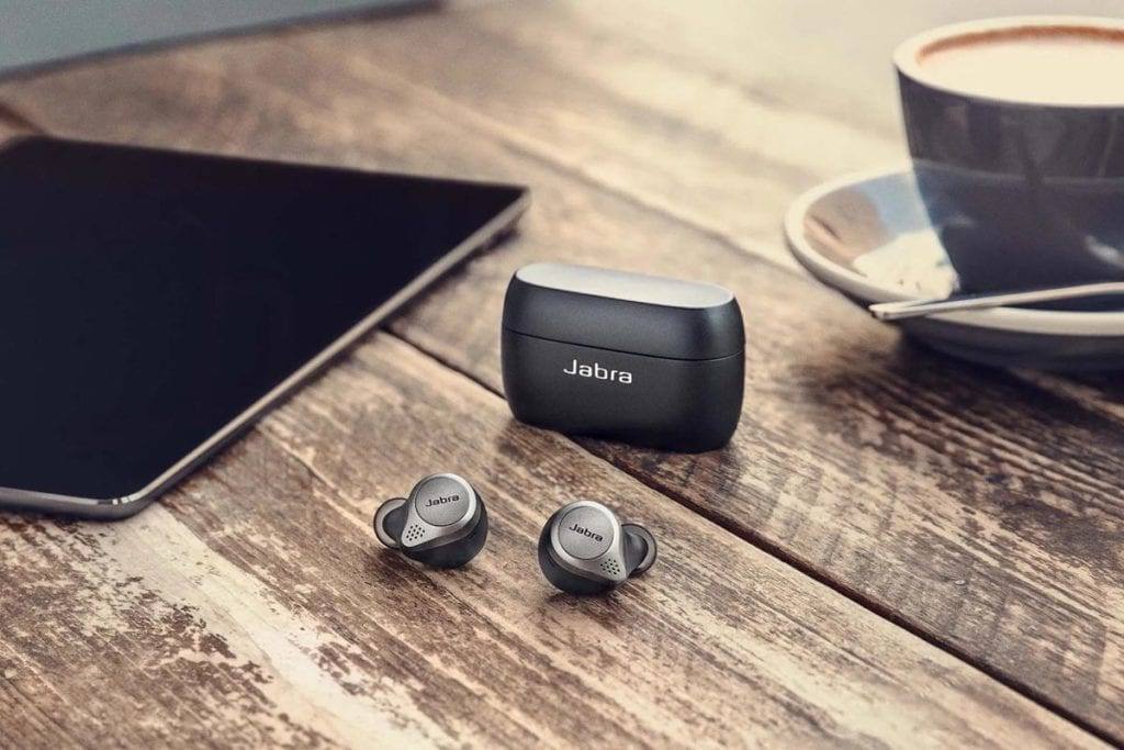 Jabra Elite 75t on table