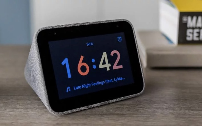 Lenovo Bedside Smart Alarm Clock With Google Assistant