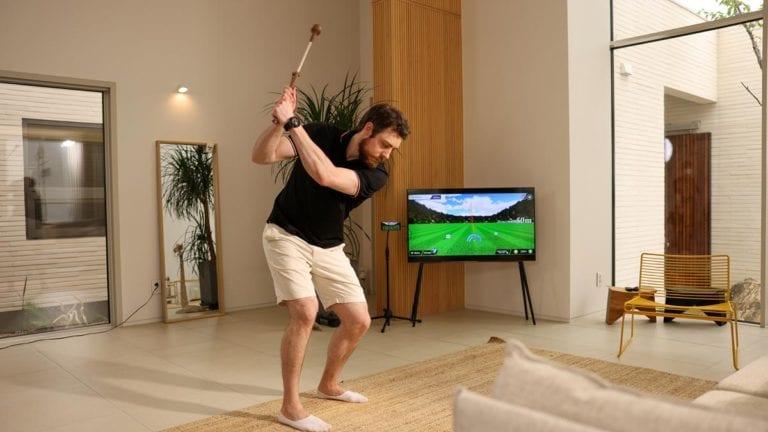 Man playing Phigolf
