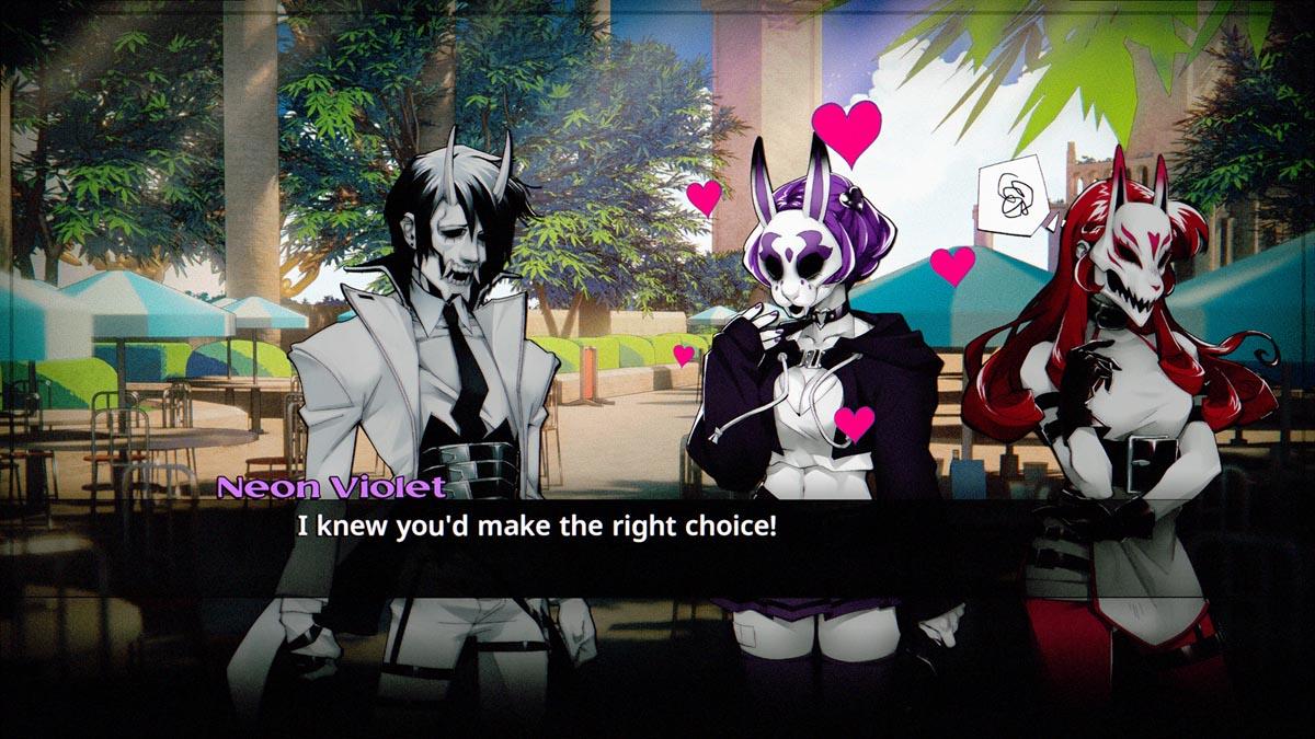 Neon White Dialogue Screen