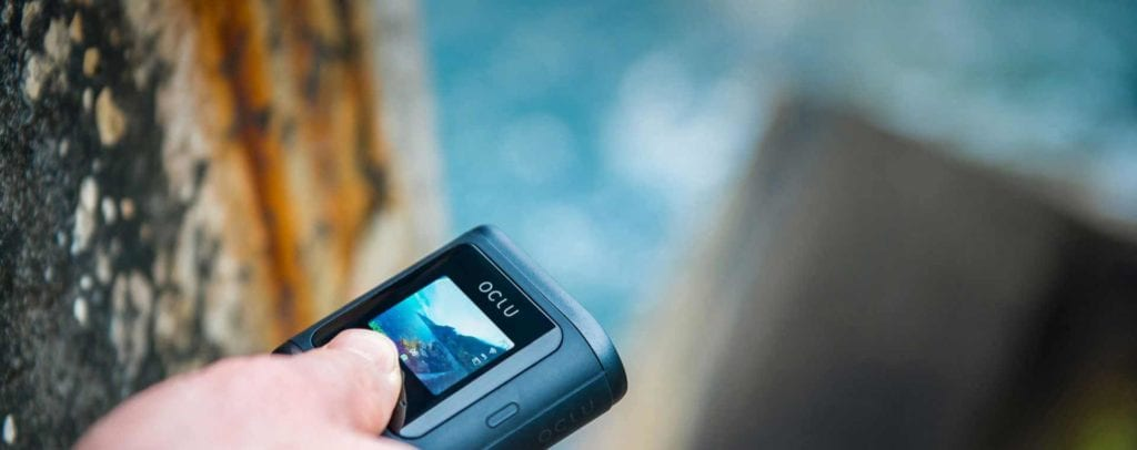 OLCU action camera review action shot