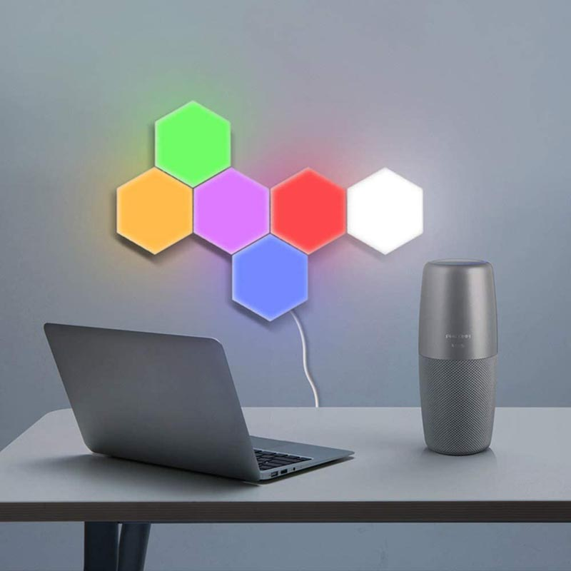 ODISTAR Remote Control Hexagon Wall Lights