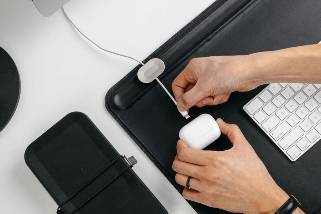 Orbitkey Desk Mat Magnetic Cable Holder