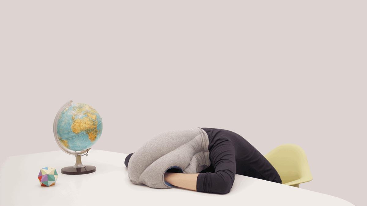 Ostrich Pillow Gif