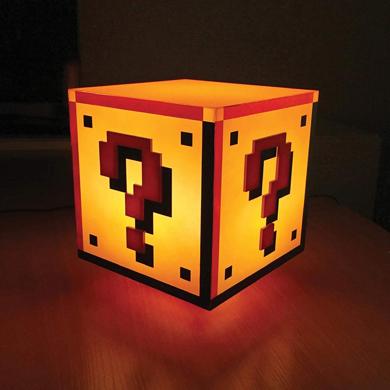 Paladone Super Mario Brothers Question Block Lamp