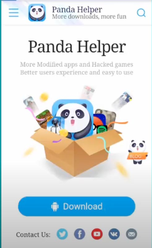 Panda Helper Android Download Page