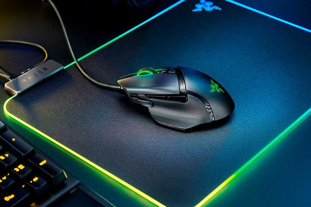 Razer Basilisk V2 On Mouse Pad