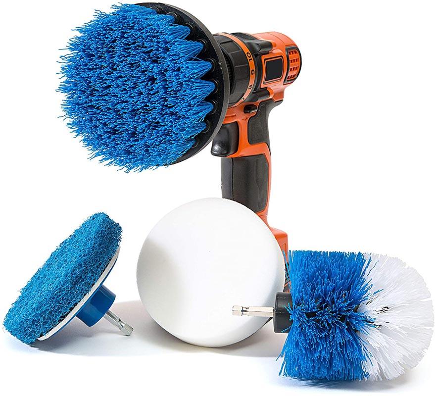 RevoClean 4 Piece Scrub Brush Power Drill Attachments
