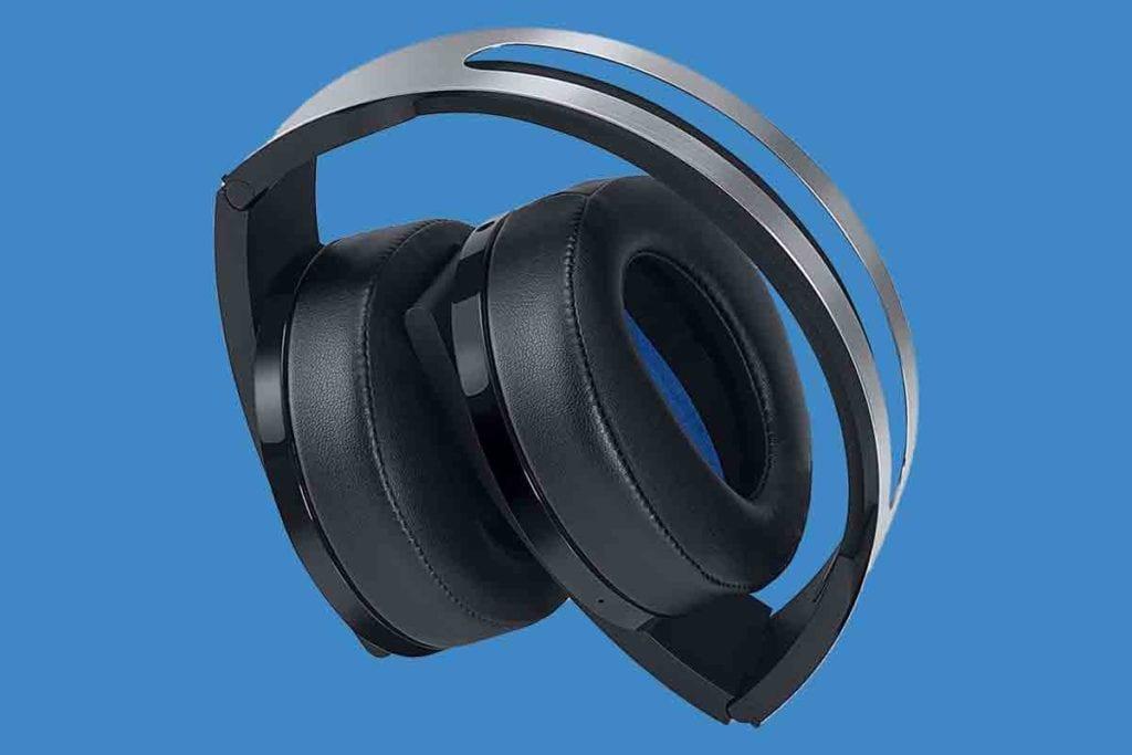 Sony PlayStation 4 Platinum Wireless Headset Folded