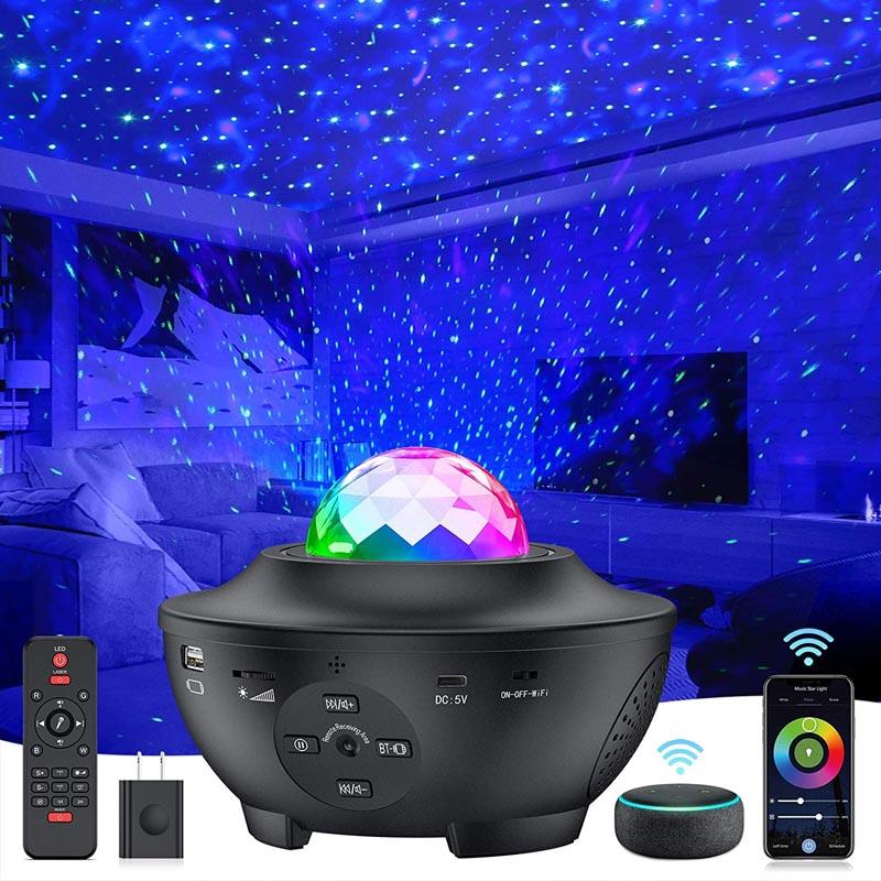 Star Projector 4 in 1 Smart WiFi Galaxy Projector Night Light
