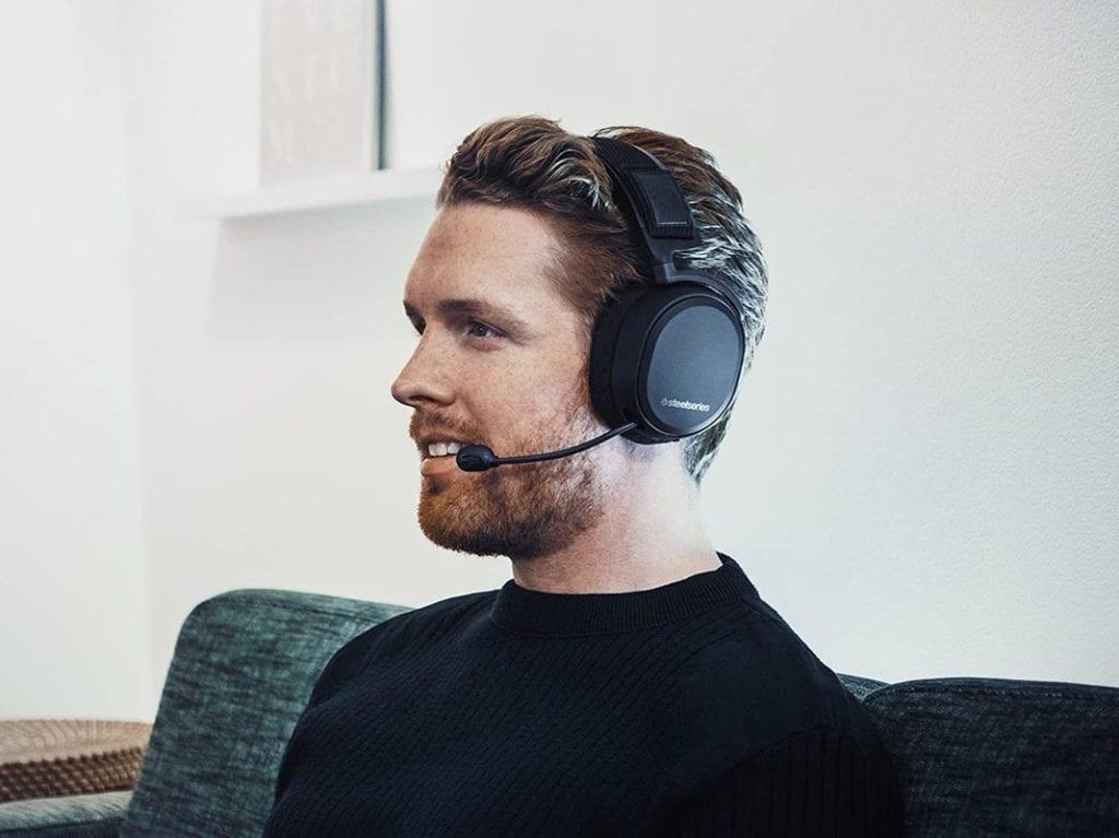 SteelSeries Arctis Pro Wireless on Head