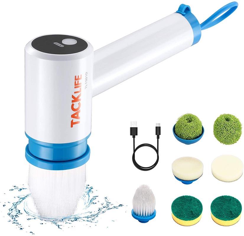 TACKLIFE Power Scrubber, 400 RPM Waterproof Shower Scrubber