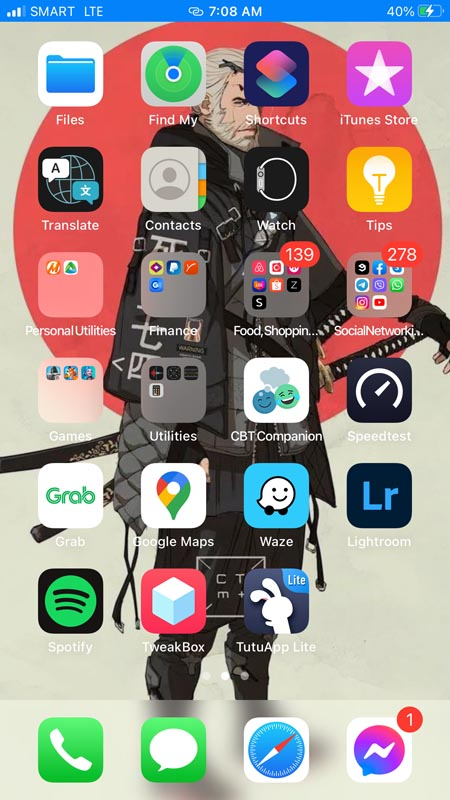 Tutu App Installed on iPhone