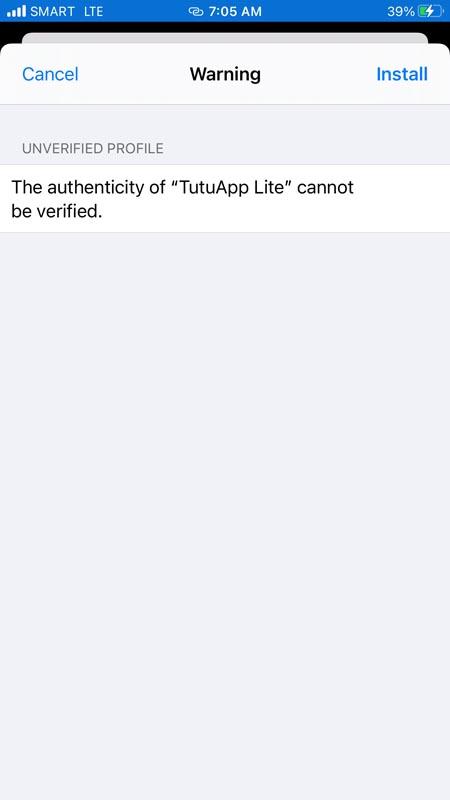 Tutu App Profile Install