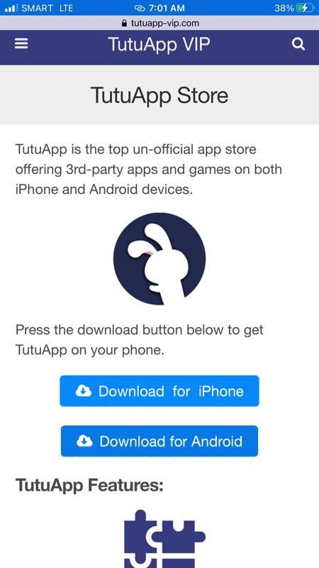 TutuApp Download Page