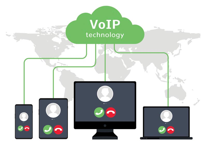 cloud phone system illustration