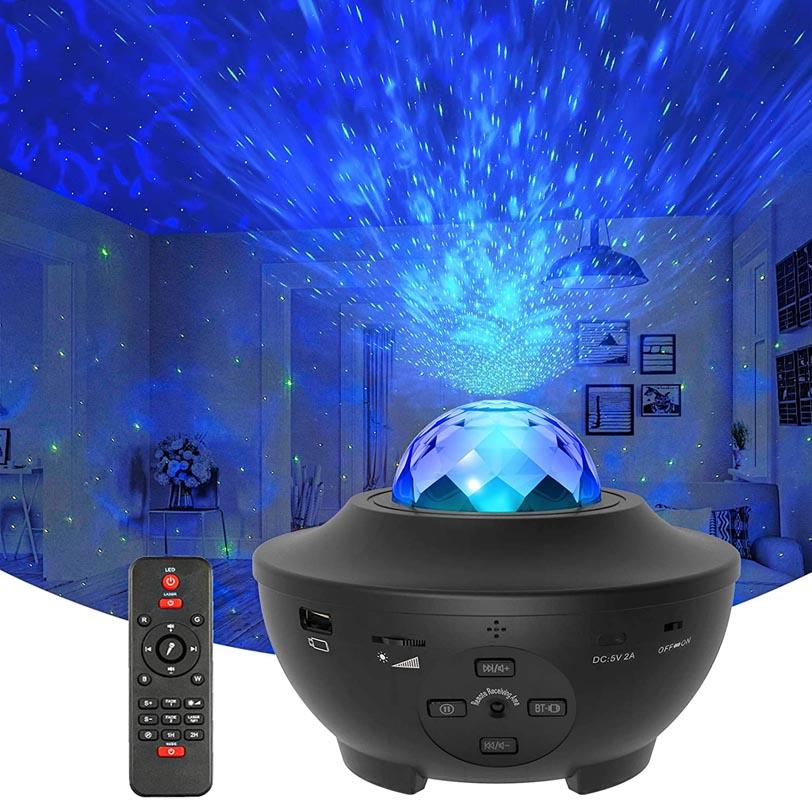 YOVAKO's Star Projector Galaxy Light Projector with Ocean Wave Projector