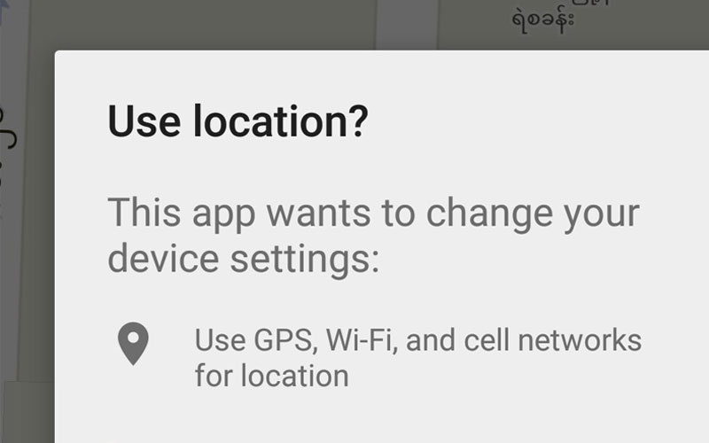 Android Location Settings Management